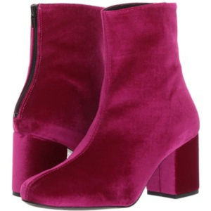 NWTB Free People Cecile Velvet Bootie Wine Size 38